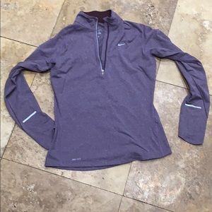 Nike DriFit purple zipper pullover